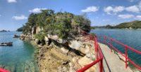 【絶景】願い事が叶う!春の海に浮かぶ神社で身も心も癒されよう♪【パワースポット】Great view:Shrine on an island【Nature】【Sasebo】【佐世保】