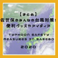 【台風10号】佐世保のみんながやった台風対策を教えて!便利グッズやアイディア【まとめ】Typhoon Haishen – what were your safey measures? 【Sasebo】
